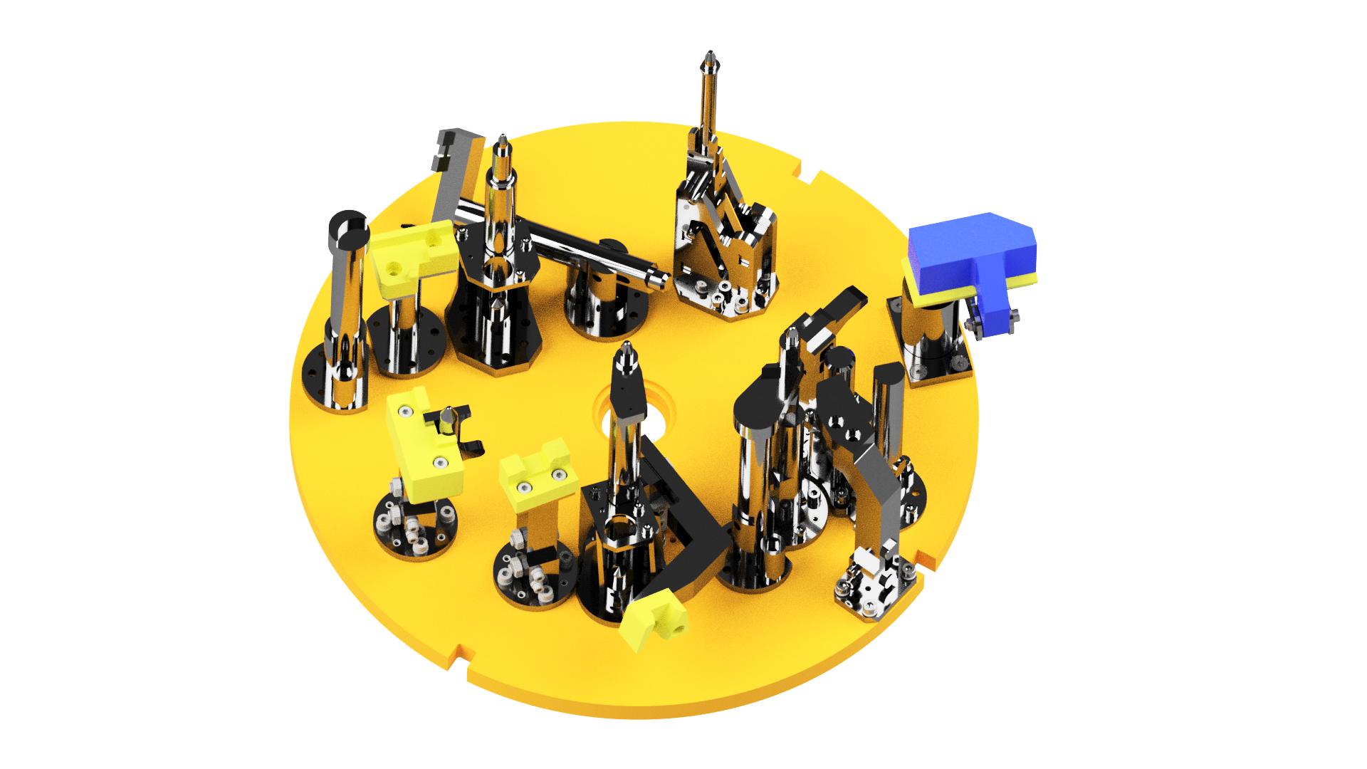 Pallet for an assembly of a propellent automotive unit