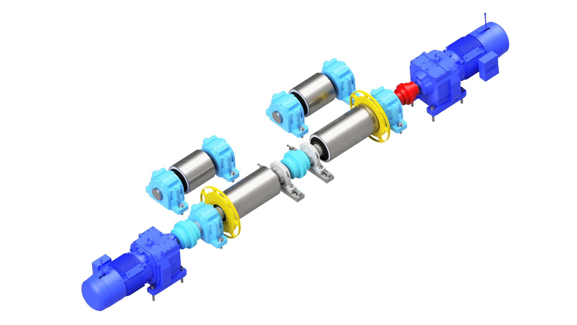 Hoisting machinery – drive of a lift for an automobile bodyworks hoist